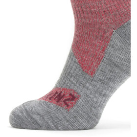 Sealskinz Waterproof All Weather Mid Socks red/grey marl